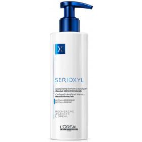 SERIOXYL Shampooing Clarifiant & densifiant Cheveux clairsemés naturels 250ml
