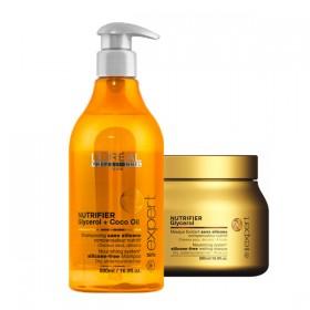 Shampoing et masque Nutrifier l'Oréal Professionnel