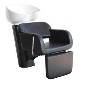 0189140 OPERA COOL Bac de lavage noir avec cuvette céramique basculante