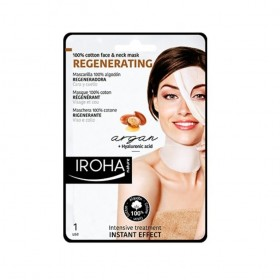 IROHA 100% Cotton Face & Neck Mask REGENERATING 30 ml