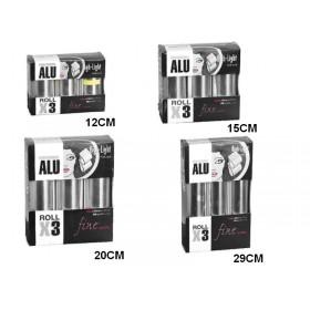 ALUMINIUM 12 microns - Set de 3 rouleaux