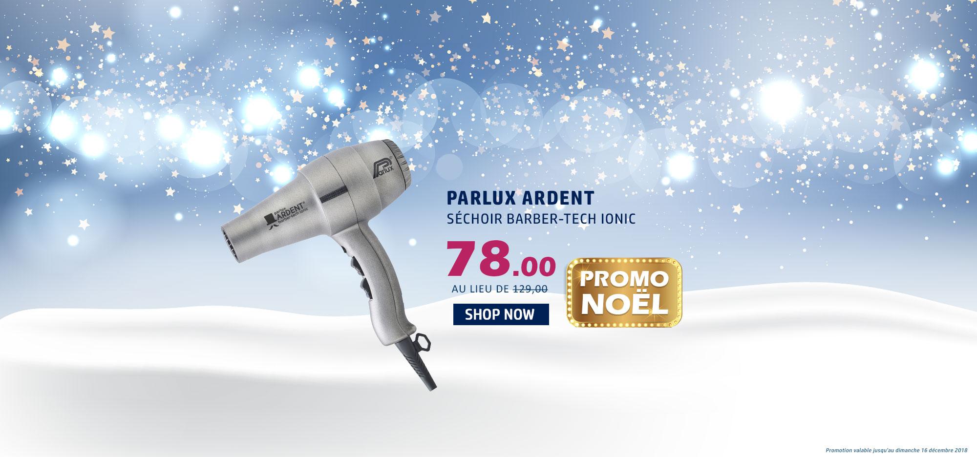 Séchoir Parlux Ardent Silver Barber tech Ionic